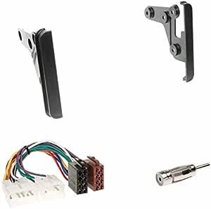 Einbauset Doppel Din 2 Din Blende Einbaurahmen Radioblende Schwarz Iso Radio Adapter Radioanschlusskabel Für Toyota Celica