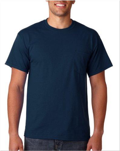 GILDAN Adult Ultra Cotton Long Sleeve Pocket Tee T-Shirt–Navy Gr. XXXX-Large, Navy (Pocket T-shirts Gildan)