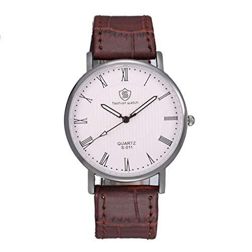 Nncande Männer und Frauen Klassische Individual Mechanische Uhren Wasserdicht Lederband Armbanduhr Luxury Einfach Business Quarzuhr Watch Smartwatch Smart Armband Uhren Watches Armbanduhren Uhr