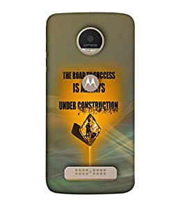 PrintVisa Designer Back Case Cover for Moto Z Play (Abstract Illustration Symbol Shape Graphic Vector Indication)