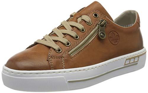 Rieker Damen Frühjahr/Sommer Slip On Sneaker, Braun (Cayenne/Braun/ 24 24), 40 EU