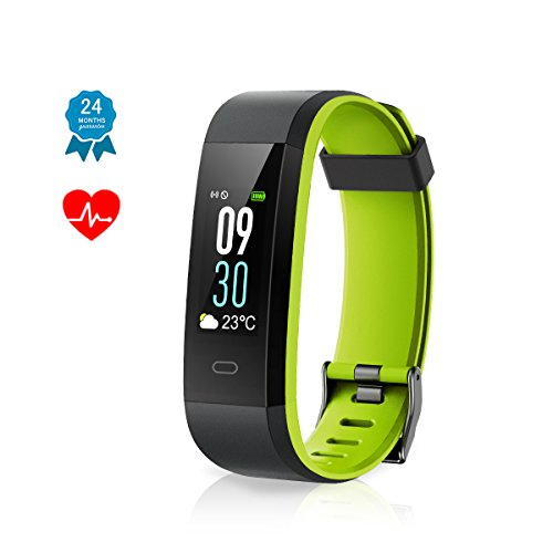 Fitness Armband Muzili IP68 Wasserdicht Fitness Tracker Sport Uhr Berührungsbildschirm Fitness Armbanduhr Aktivitätstracker mit Herzfrequenzmonitor/ schrittzähler/...