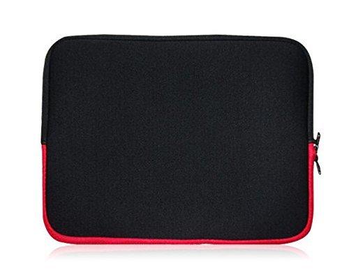 Sweet Tech Schwarz/Rot Neopren Schutzhülle Sleeve Passend für Blaupunkt Endeavour 1010 Tablet 9.7 Zoll