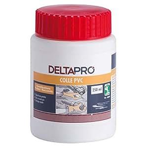colle pvc - adduction écoulement raccord et canalisation pvc - pot de 250ml avec pinceau - deltapro 30601724