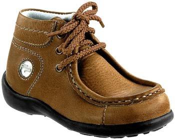 Pirot footprints boots'en cuir marron avec formée fine Marron