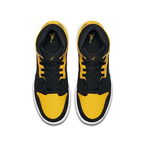Nike 554725-009, Scarpe da Basket Bambino nero/giallo