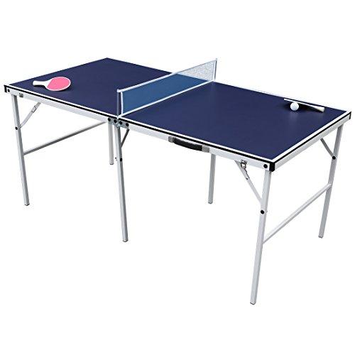 Preisvergleich Produktbild HLC Mini Tischtennistisch Tisch Tischtennisplatte Blau 154*77*69 CM klappbar