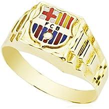 Sello con escudo FC. Barcelona. Oro amarillo 9k. Personalizable, grabado incluido.