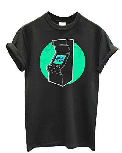 Herren-T-shirt Retro VideoGame - 100% bauwolle LaMAGLIERIA Grafite