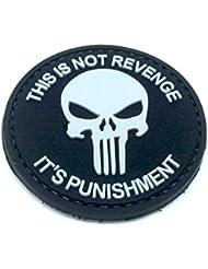 Este no es venganza Punisher negro PVC Airsoft Paintball parche