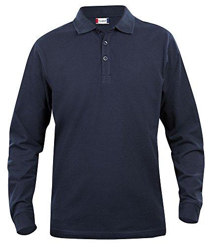 Para hombre Polo de manga larga de mujer, algodón, corte clásico, peso medio, 11colores, XS 5X L Azul azul marino oscuro XXXX Large