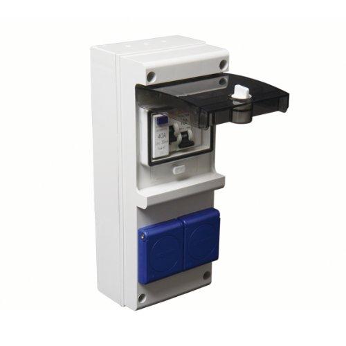 Debflex 707694 - Cuadro eléctrico (con disyuntor, interruptor diferencial y enchufe 2P+T)...