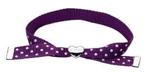 Kit Heath Kids Sterling Silver and Ribbon Purple Friendship Bracelet 79109PU
