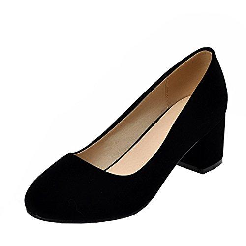 Agodor Damen Chunky Heels Bequeme Pumps mit Blockabsatz 5cm Absatz Klassisch Büro Arbeit Schuhe Chunky Heel Pumps