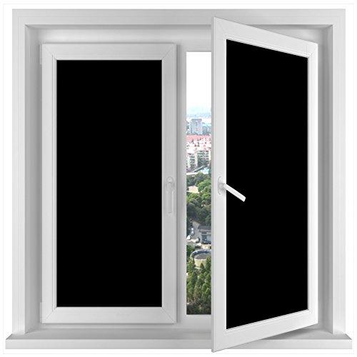 RH Art Sichtschutzfolie Verdunkelungsfolie Selbstklebend Folie Fenster Tönungsfolie Schwarz, 60 x 400 cm