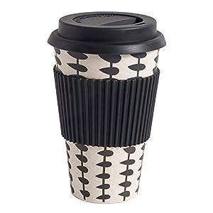 NORDAL Kaffeebecher Coffee to Go Bambus schwarz - weiß