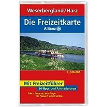 Die Allianz Freizeitkarte Weserbergland, Harz 1:100 000