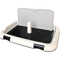 DAN Toilette für Hunde,Trainings-Auflage-bewegliche Haustier-Park-Eck,Hundetoilette Welpentoilette Puppy Loo, 67*46*28cm