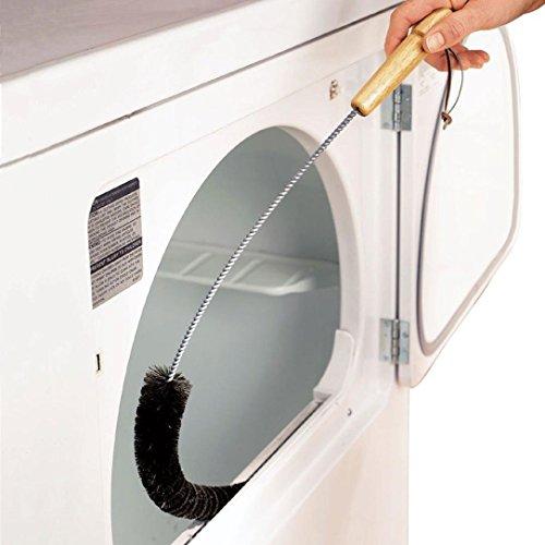 Waschmaschine Reinigungswerkzeug Wäschetrockner Lint Vent Trap Reiniger Pinsel Gas Elektrische Feuer Kühlschrank Reinigungswerkzeug (Silber) (Flasche Trap-edelstahl)