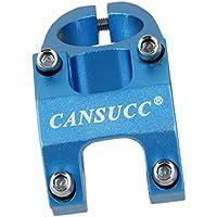 Manillar de Bici Tallo Ajustable Corto de Subida Vástago 31.8mm Aleación Bicicleta de MTB - Azul
