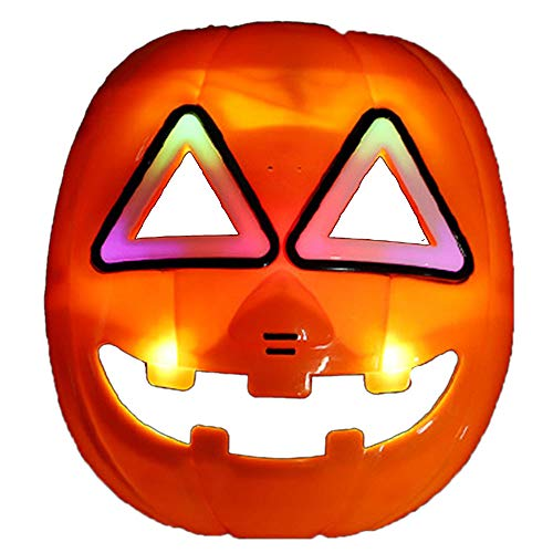 Nice shop - maschera luminosa a forma di zucca per halloween, con luce a led