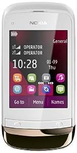 "Nokia C2-03 Smartphone, Dual Band, Display da 2.6"", Fotocamera da 2 MP, Bianco"