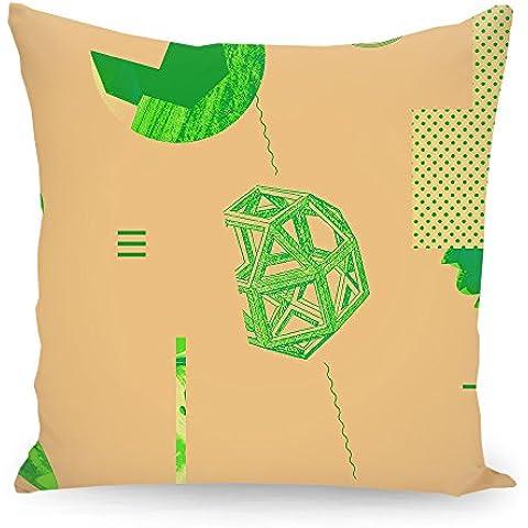 """Cuscino 50x50 cm Geometria illustrazione pastello """"Oggetti 06"""" grün - Cuscino - stampato fronte e retro - Cuscini """"Geometria illustrazione pastello"""" di """"Andreas Jarner"""""""
