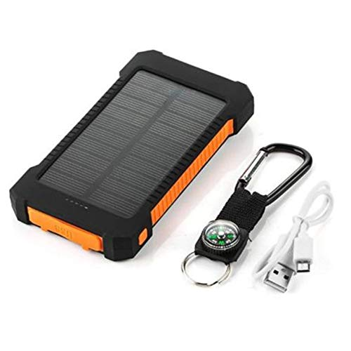 Peanutaso Cargador batería Solar portátil USB Dual