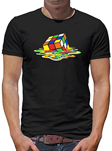 TLM Zauberwürfel T-Shirt Herren XXL Schwarz (Leonard Hofstadter Halloween Kostüm)