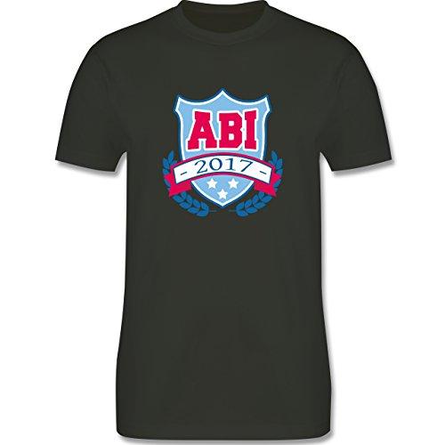 Abi & Abschluss - ABI 2017 Badge - Herren Premium T-Shirt Army Grün