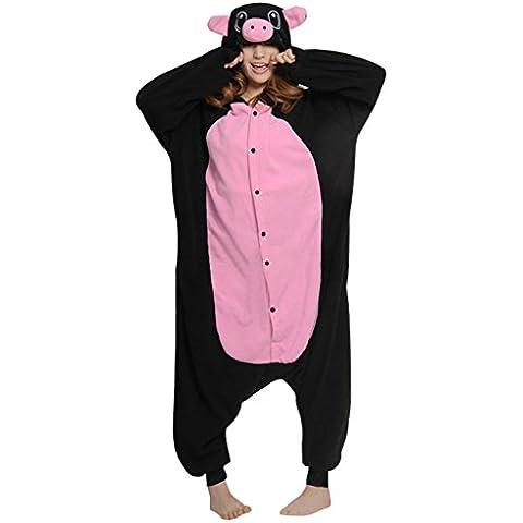 Gillbro animado animal adulto del traje de Cosplay de los pijamas, cerdo