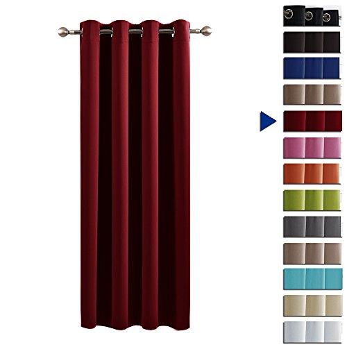 Blickdicht Vorhang mit Ösen - PONYDANCE Verdunkelungsvorhänge Thermo-Vorhang für Kindergarten, 1 Stück...