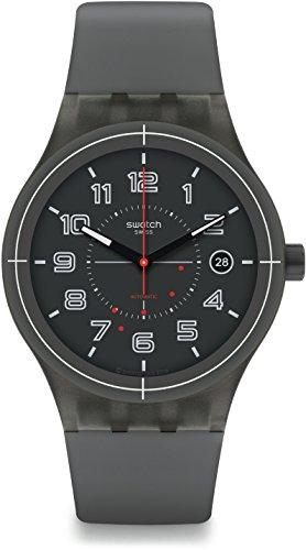 Swatch Orologio Digitale Automatico Uomo con Cinturino in Silicone SUTM401