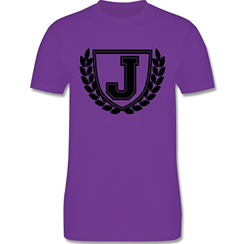 Anfangsbuchstaben - J Collegestyle - Herren Premium T-Shirt Lila