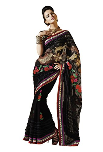 Mahotsav Net Saree (6125_Black)  available at amazon for Rs.2000