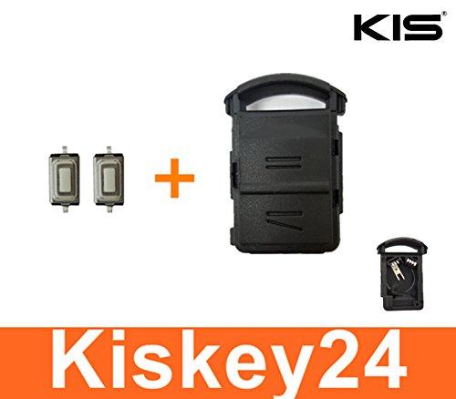 Kis® 2tasten ricambio di chiave + Batterie Contatto per Opel Corsa C Meriva A Tigra B + 2X Taster