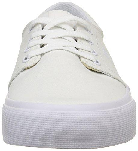 DC Shoes Trase Tx M, Baskets Basses Homme Blanc (White)