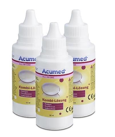 Acumed 3212 Kombi-Lösung Pocket 3er Set, 150 ml (Desinfizieren Von Kontaktlinsen)