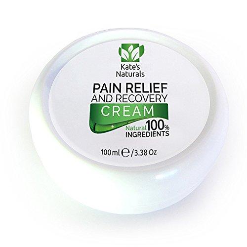 Schmerzlindernde Creme von Kate's Naturals - 100 ml - Rein natürliches, schnell wirkende und lang anhaltende Schmerzmittel-Creme bei Muskelkater, Gelenkschmerzen, Rückenschmerzen und Nervenschmerzen (Nervenschmerzen)