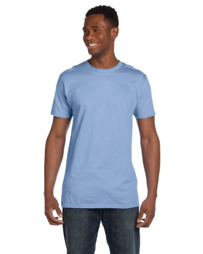 Hanes 4980 Mens Nano T-Shirt 1 Light Blue + 1 Smoke Grey