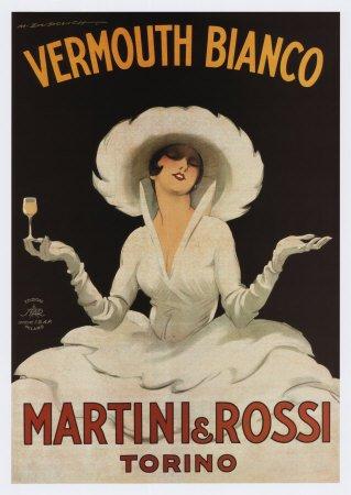 Stampa artistica 'Martini Rossi Vermouth Bianco', Dimensione: 50 x 70 cm