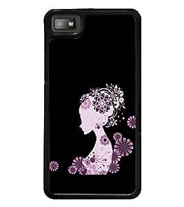Girl Clipart 2D Hard Polycarbonate Designer Back Case Cover for BlackBerry Z10