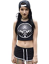 The Dead Generation Occult Bambi Crop Top - Gothic Alternative Clothing by Luna Cult