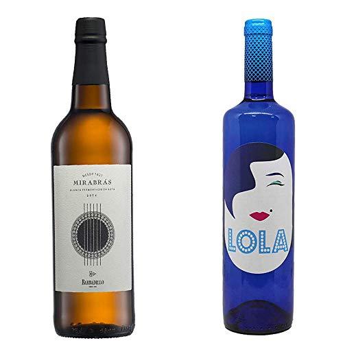 Mirabrás Y Lola Semidulce - Vino De La Tierra De Cádiz Y D. O. Campo De Borja - 2 Botellas De 750 Ml