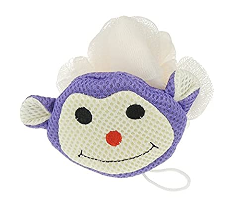 Jungen Girls Fun Bad Animal Face Bad Luffa Schwamm Gr. One Size, Purple monkey