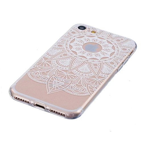 Custodia iPhone 6 6s ,iPhone 6 Transparente Clear Crystal Custodia ,LTWS Cover iPhone 6 / 6s Silicone Trasparente TPU Flessibile Sottile Bumper Case per Apple iPhone 6 6s 4.7 -Indiana santa fiore man 11