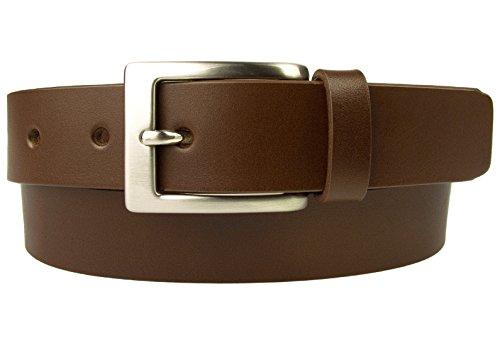 Belt Designs Taille 96.5-107 cm (L) - Marron Ceinture en cuir de qualité pour Homme - Fabriqué au Royaume-Uni - BD-0021-30-BRW-L