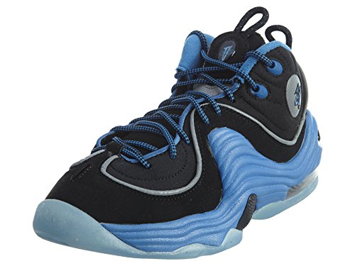Nike Air Penny II (GS) Fashion-Sneakers 820249–400_ 3.5Y–College Blau/Weiß/Schwarz, Schwarz - Schwarz - Größe: M EU Große Kinder (Basketball Große Nike Kinder)