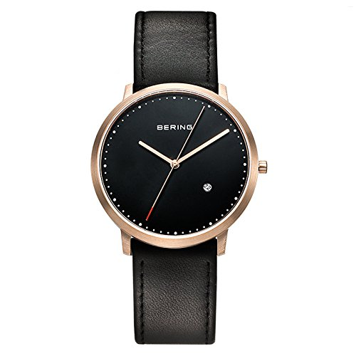 Bering - 11139-462 - Montre Homme - Quartz Analogique - Bracelet Cuir Noir