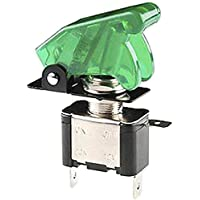 E Support™ Auto Motore 12V 20A Verde Coprire Luce LED Verde Interruttore a levetta Switch On OFF